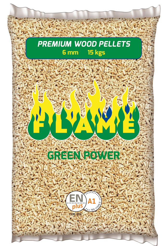 sacco flame green power fronte
